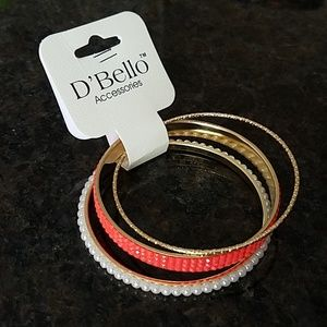 💎BOGO NWT 💎D'Bello Goldtone Trio Bracelet Set